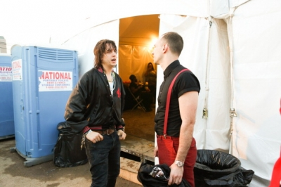 Albert and Julian backstage