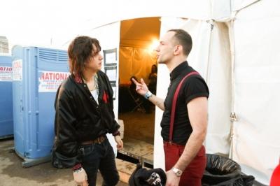 Albert and Julian backstage